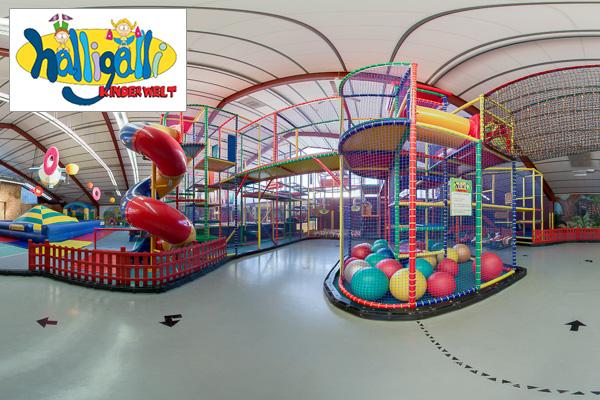 Google Street View Maps Business Fotograf 360 Grad Panorama 360° Fotografie Indoor Spielplatz Halligalli Rosbach